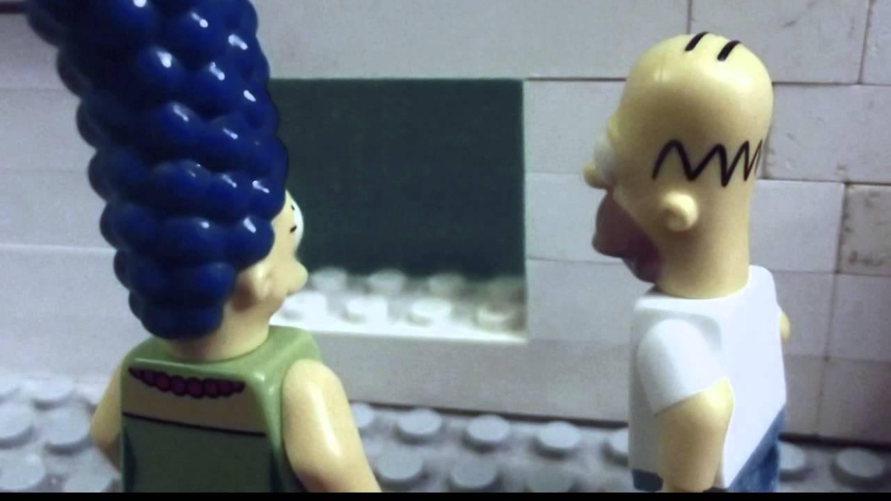 Lego Simpsons Angry Mob Scene Youtube