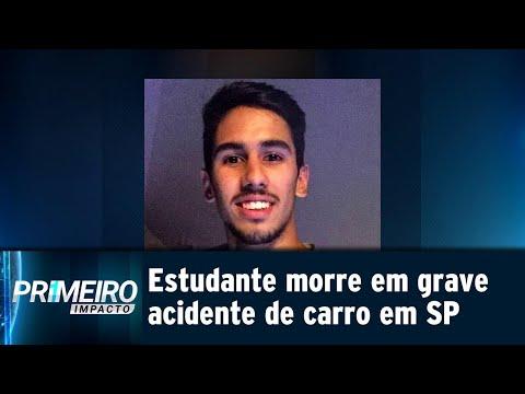 Jovem recém-formado morre em grave acidente de carro em São Paulo   Primeiro Impacto (20/07/18)