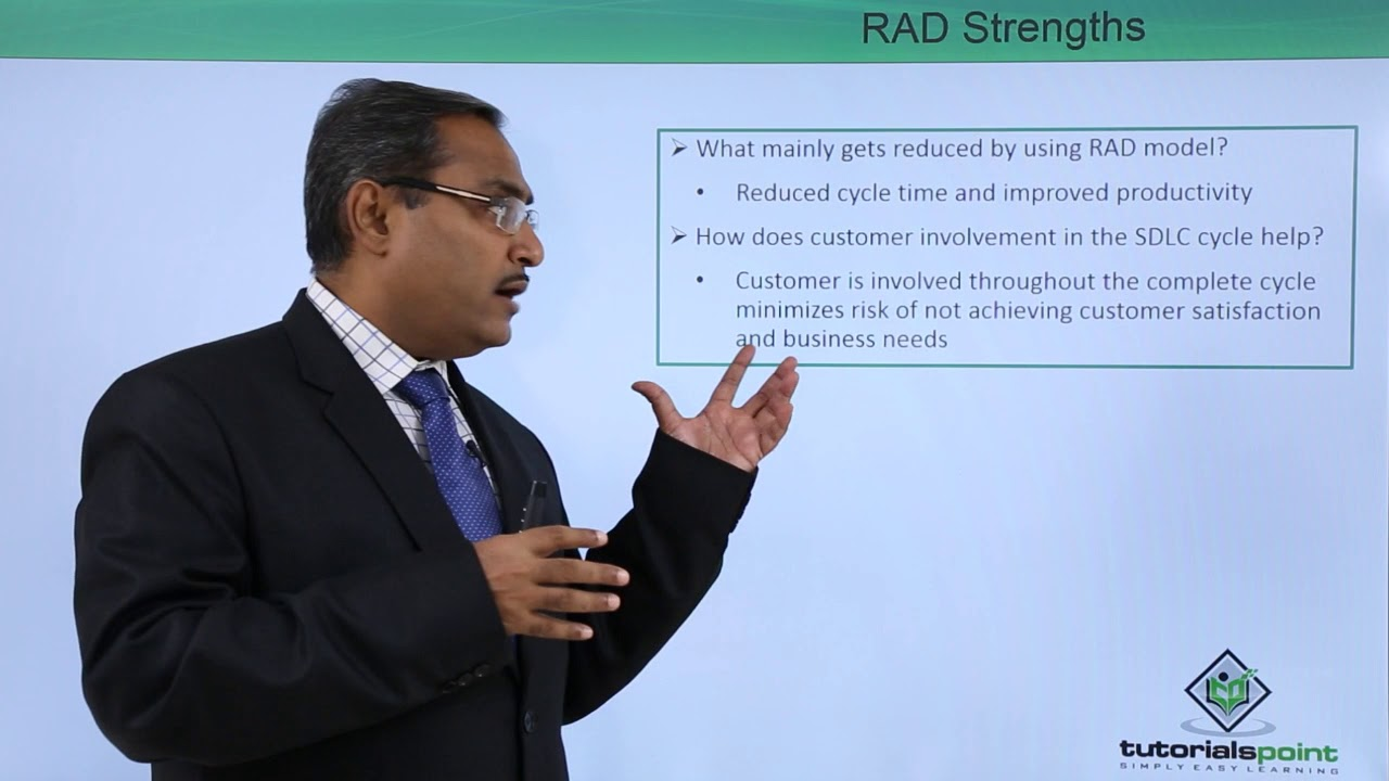Rapid Application Development (RAD). Rapid Application Development (RAD) Watch more Videos at https://www.tutorialspoint.com/videotutorials/index.htm Lecture By: Mr. Arnab Chakraborty, Tutorials.... Youtube video for project managers.