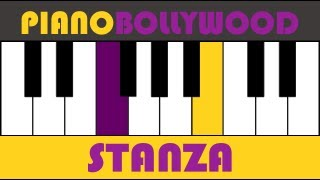 Kal Ho Naa Ho - Easy PIANO TUTORIAL - Stanza [Right Hand]