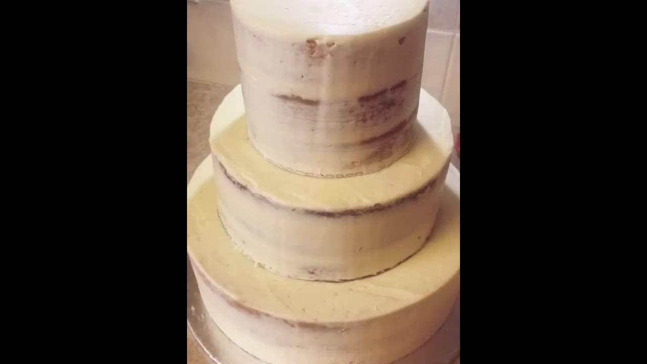 Gold Paint Wedding Cake
