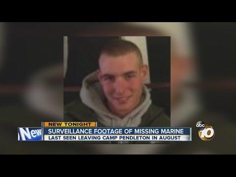 Surveillance footage of missing Camp Pendleton Marine
