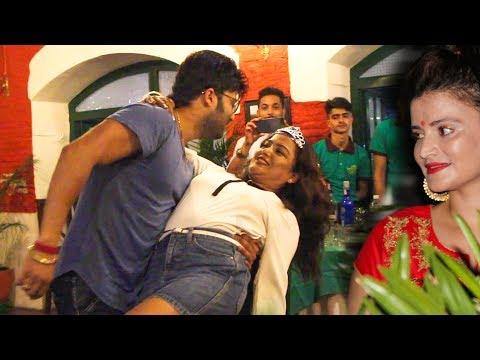 श्रीमतीकै अगाडी रेखासँग आर्यनको रोमांचक क्षण - Rekha Thapa & Aaryan Sigdel