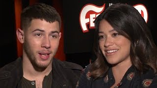 Nick Jonas & Gina Rodriguez Play Never Have I Ever - Ferdinand Junket