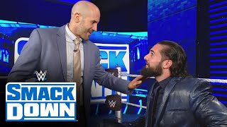 Cesaro comes face-to-face with Seth Rollins backstage: SmackDown, June 18, 2021