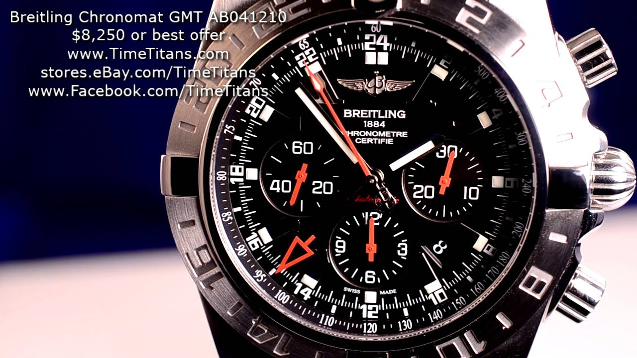 Breitling Bentley Watch >> Breitling Chronomat GMT Limited Edition AB041210/BB48 47MM ...