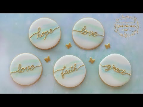 How to make SIMPLE WATERCOLOUR COOKIES