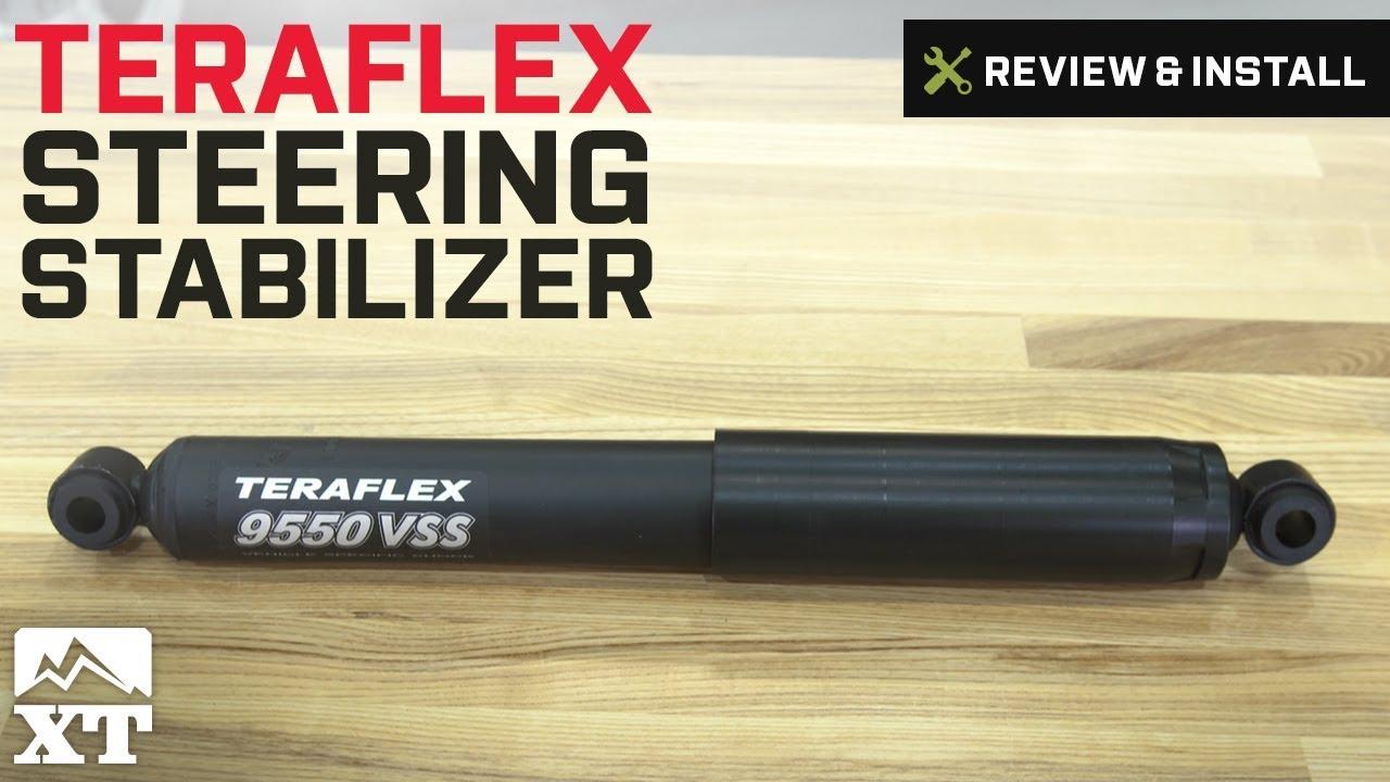 TeraFlex JK TJ 9550 VSS Steering Stabilizer