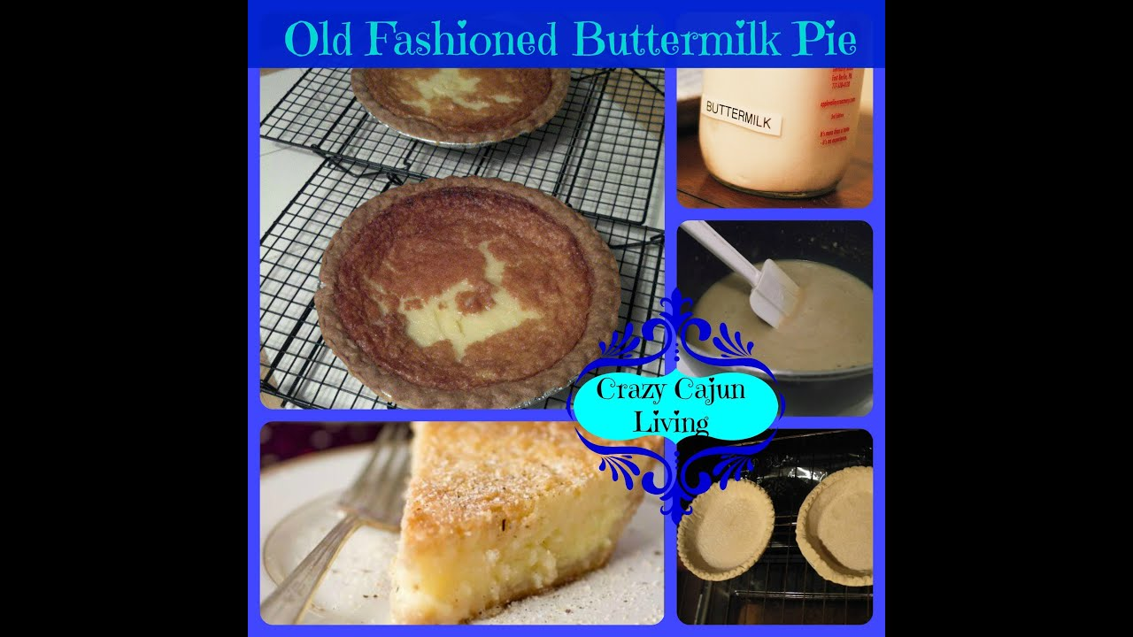old fashioned buttermilk pie very old recipe youtube