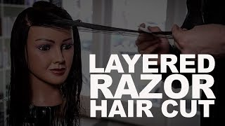 Long Layered Haircut Tutorial with a Razor