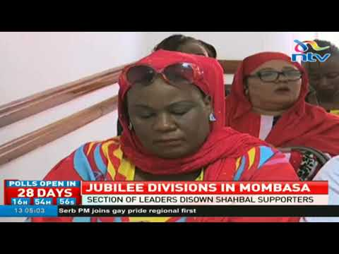 Jubilee leaders disown Shabal supporters in Mombasa