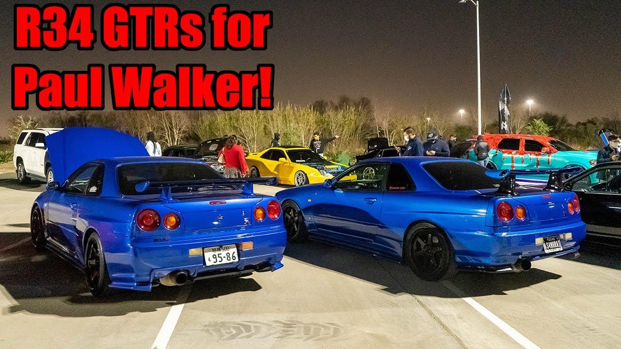 R34 GTRS SHUT DOWN PAUL WALKER TRIBUTE CAR MEET! (JDM Legends Everywhere!)