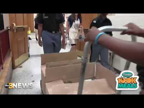 Puritan Cleaners 100K Meals 2019 visits Franklin Military Academy