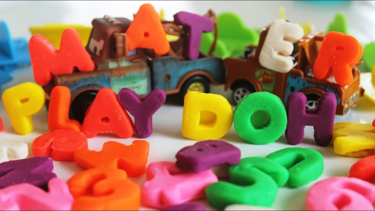 Play Doh Numbers Letters N Fun Cars 2 Mater Learn Abc Play Doh Youtube