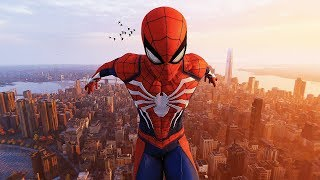 Spider-Man PS4 - The Advanced Spider Suit Combat & Beautiful NYC Free Roam Gameplay