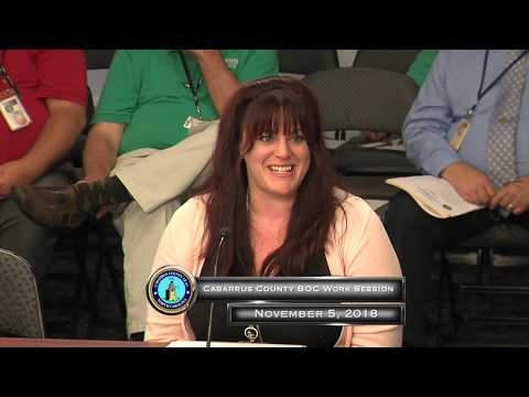 Cabarrus County BOC Work Session 11.05.2018 1