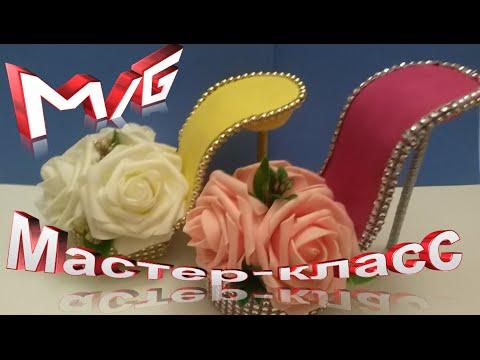DIY Как сделать туфельку сувенир  своими руками подарок на 8 марта смотреть в хорошем качестве