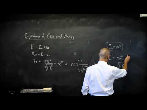 Special Relativity E1 Relationship between Mass and Energy