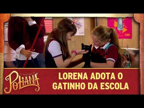 Lorena e Poliana levam o gatinho da escola para a casa | As Aventuras de Poliana