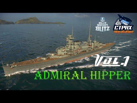 WOWS BLITZ ФЛОТ СТРАХ: Admiral Hipper VIII