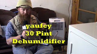 Yaufey 30 Pint Dehumidifier Product Review