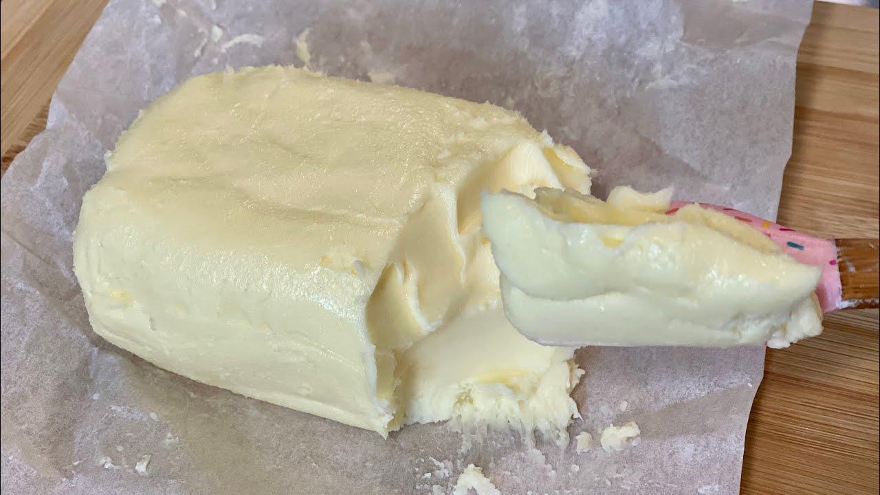 Mantequilla 🧈 1 Ingrediente Con Batidora de Mano