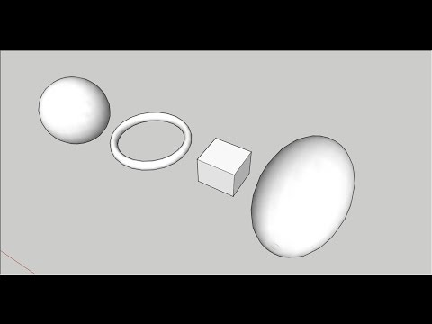 SketchUp: Model a Sphere, Torus and Ovoid (Egg)