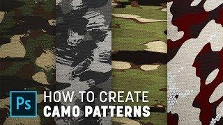 Het Maken van Aangepaste Camouflage Patronen in Photoshop