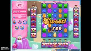 Candy Crush Level 725 Audio Talkthrough, 1 Star 0 Boosters
