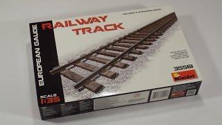 Обзор сборные железнодорожные рельсы от Miniart - 686 мм, европейская колея, масштаб 1/35