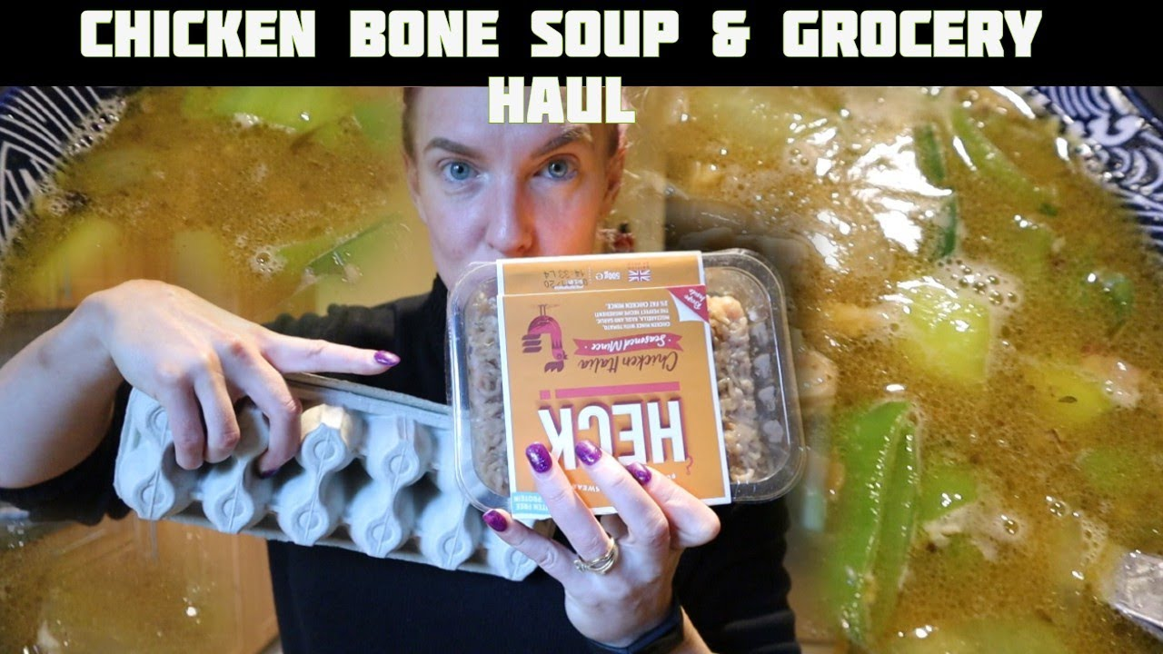 Vlogtober 2020 - Day 26 - Chicken Bone Soup & Grocery Haul