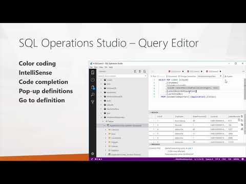 First Look at SQL Operations Studio - YouTube