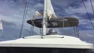 Sailing to Grenada. Freedom Lagoon 52F
