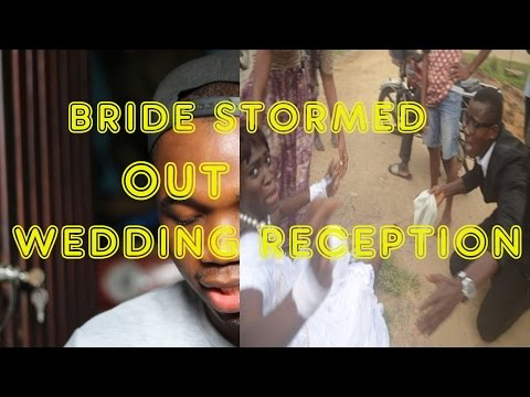 Bride Stormed Out Of Wedding Reception, My Opinion
