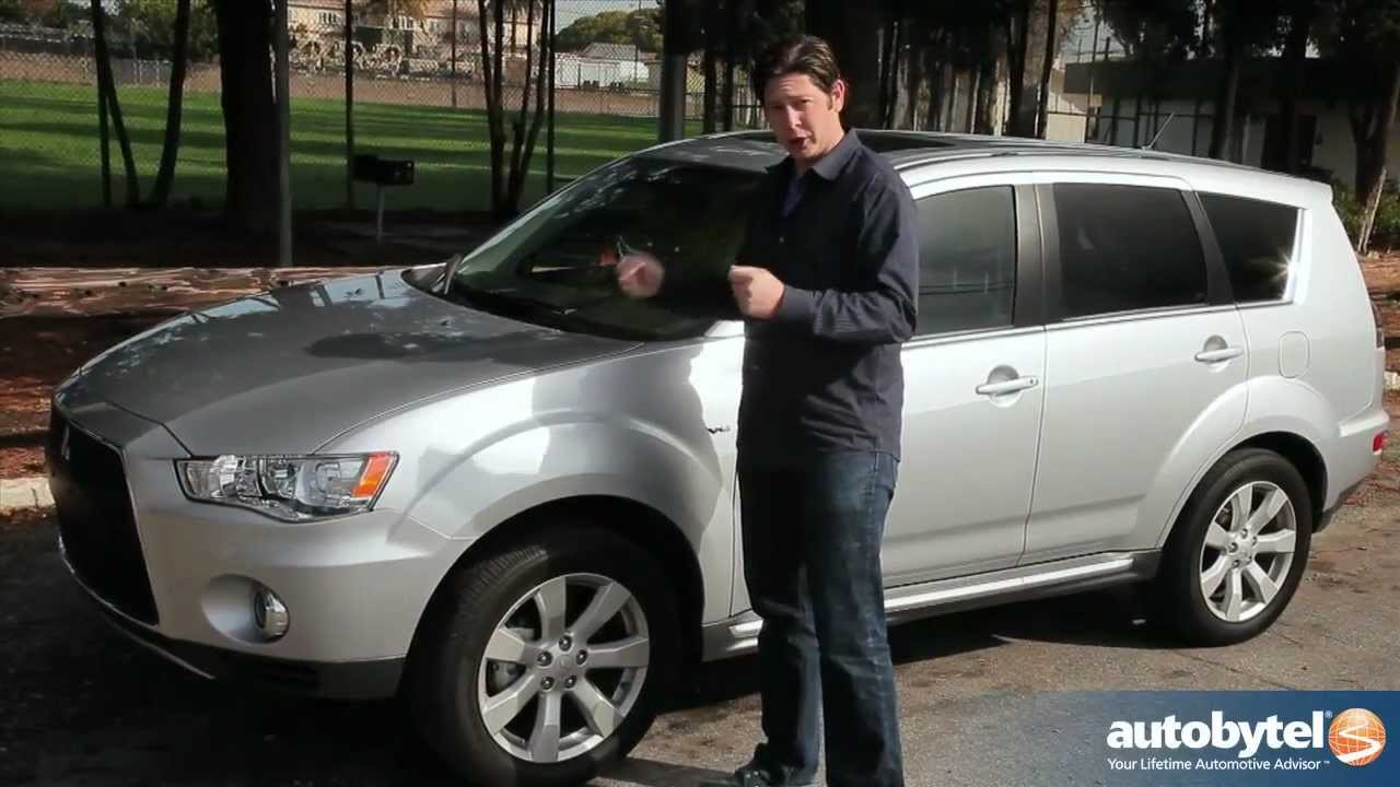 2012 mitsubishi outlander test drive suv review youtube. Black Bedroom Furniture Sets. Home Design Ideas