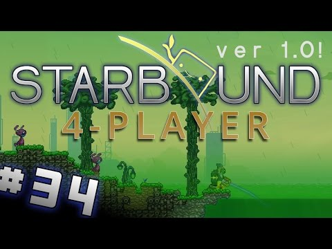 Starbound 1.0 - #34 - Poison Planets! (4 Player Starbound Gameplay)