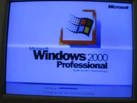 Startup sound windows 2000 server family youtube.