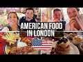 🇺🇸BRITS TRY AMERICAN FOOD IN LONDON 🇬🇧