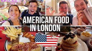 🇺🇸BRITISH TRY AMERICAN FOOD IN LONDON 🇬🇧