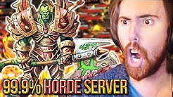 Asmongold SAVES A 99.9% Horde Populated Server - Classic WoW