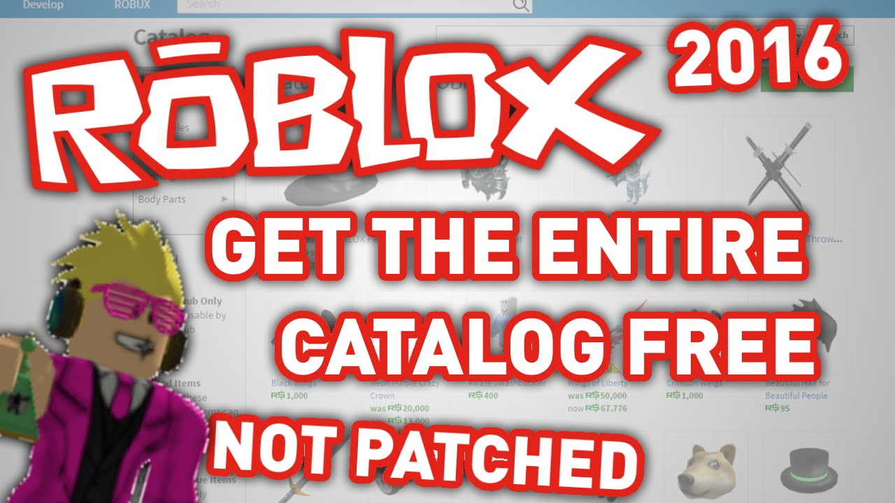 how to get free catalog items on roblox 2017