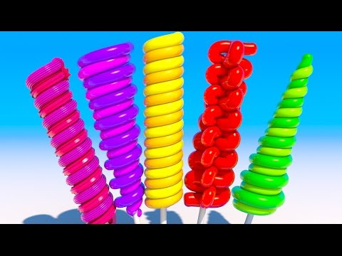Thumbnail: Learning Colors With 3D Long Lollipops for Kids