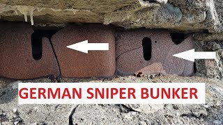WOW , German WW2 sniper bunkers..and more !