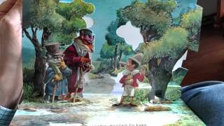 Pinocchio pop-up book read by Pampa