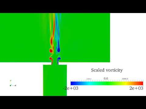 Whistling jet - flow in duct with orifice at the exit