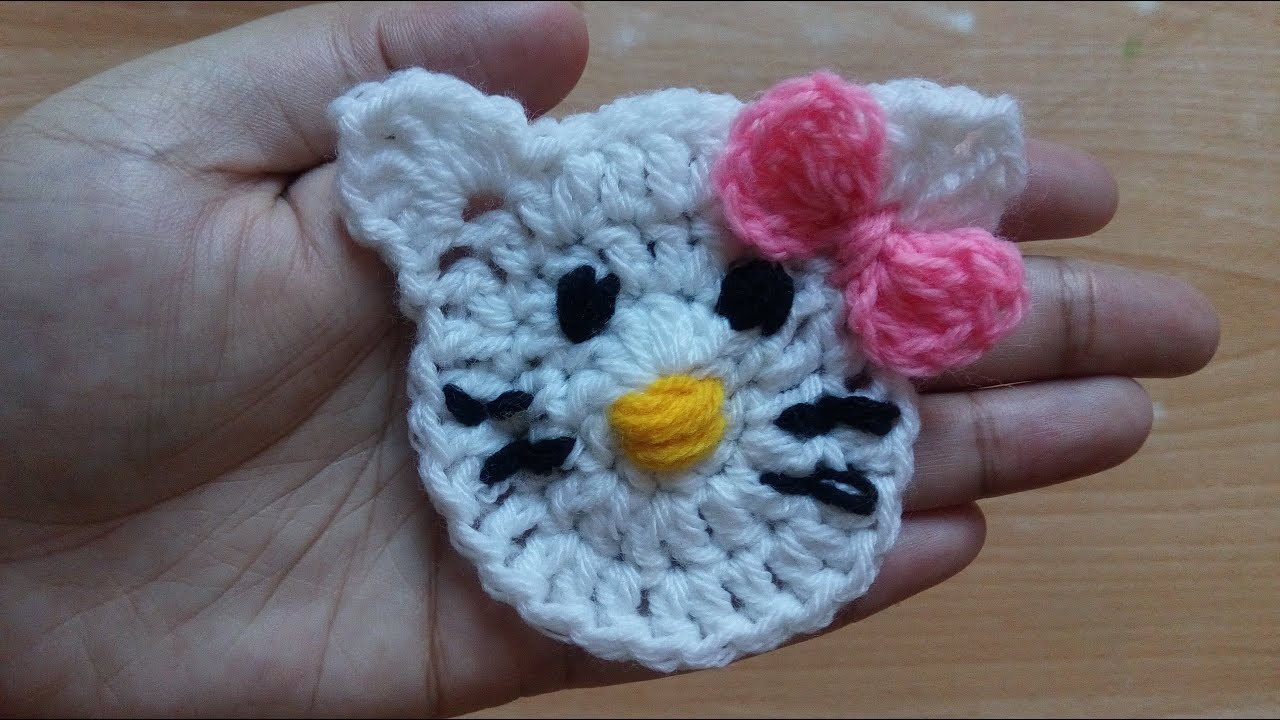 How to crochet a angela cat applique by tahmina youtube