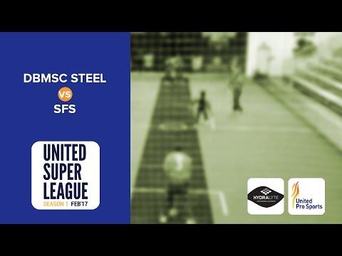 Indoor Cricket Match   DBMSC Steel vs SFS   United Super League