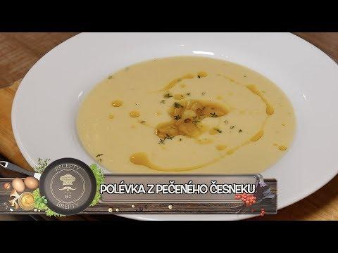 Polévka z pečeného česneku