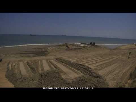 Dodge Island and Padre Island Dredges Time Lapse- Beach Nourishment