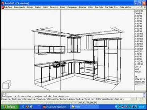 3d cocinas parte 1 youtube for Dibujar planos gratis
